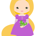 Princesa Disney Rapunzel Cute 3