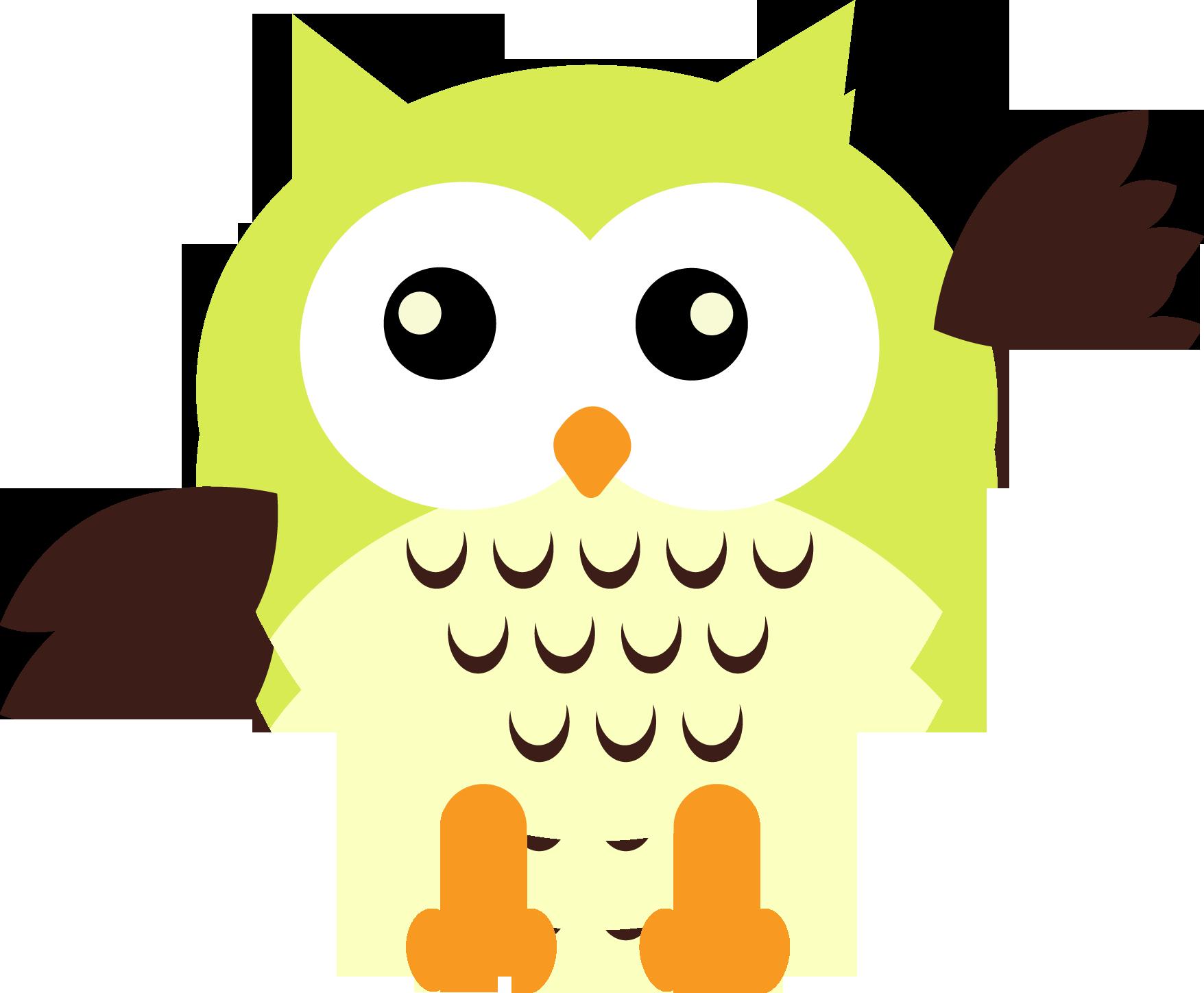 cute owl clip art - HD1756×1448