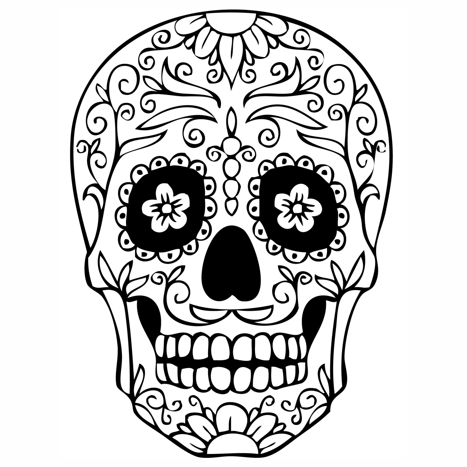 Zentangle Skull Coloring Pages Sugar Skulls Coloring Pages