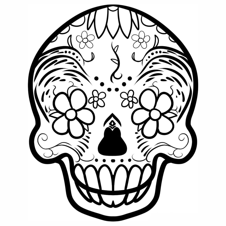 Caveiras Mexicanas Para Colorir Imagens Png
