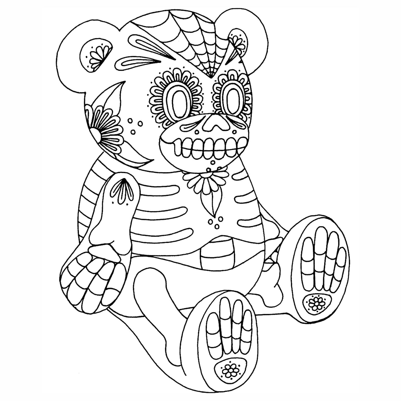 Voodoo School Worksheets : Caveiras mexicanas para colorir imagens png