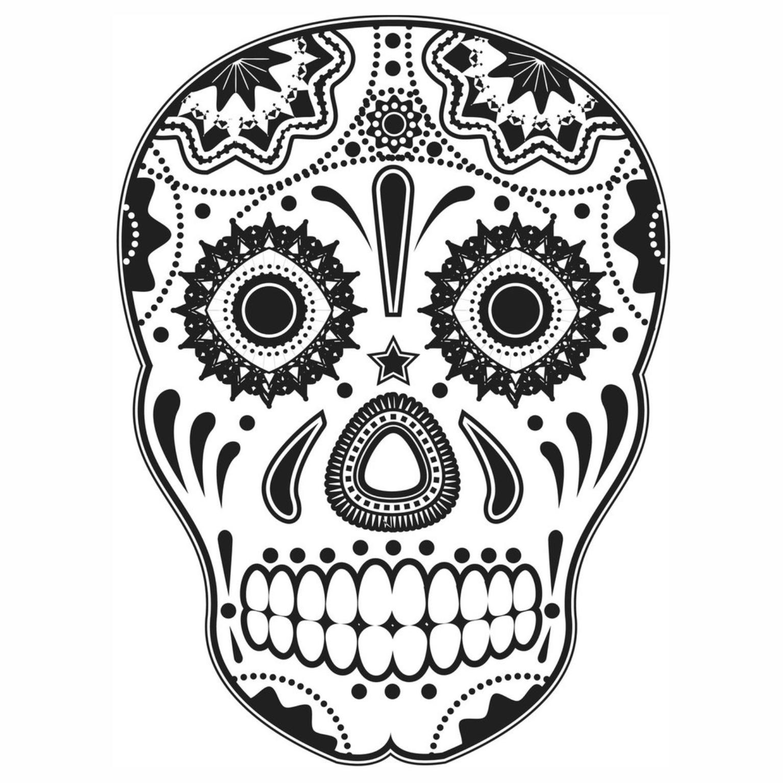 caveiras mexicanas para colorir � imagens png