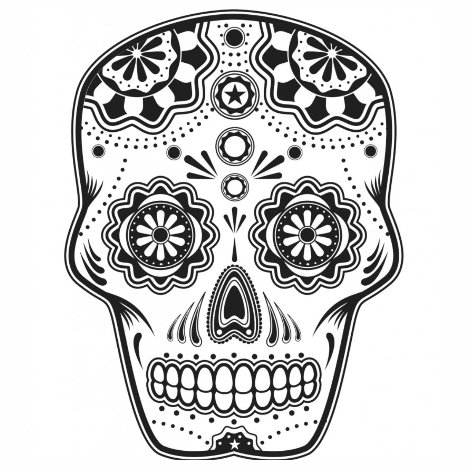 Caveiras mexicanas para colorir imagens png for Free sugar skull coloring pages