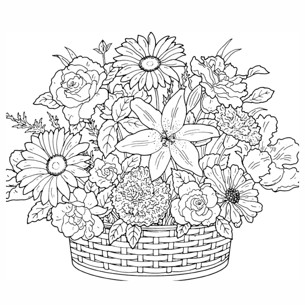 All about bouquet of flowers coloring page free printable coloring bouquet of flowers coloring page free printable coloring izmirmasajfo