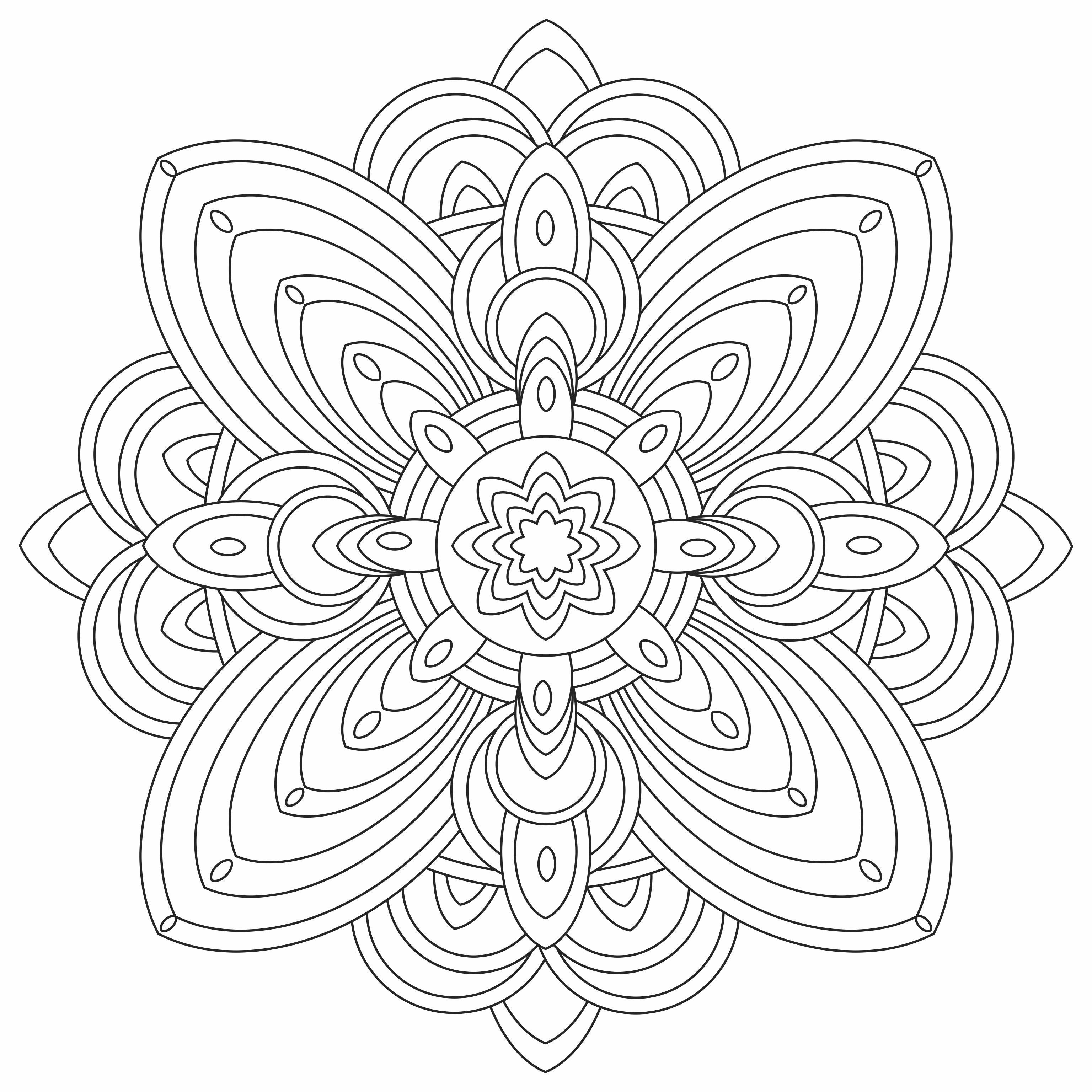 Mandalas Para Colorir Imagens Png