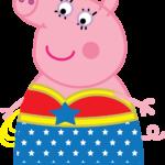 Peppa Pig - Mulher Maravilha 01
