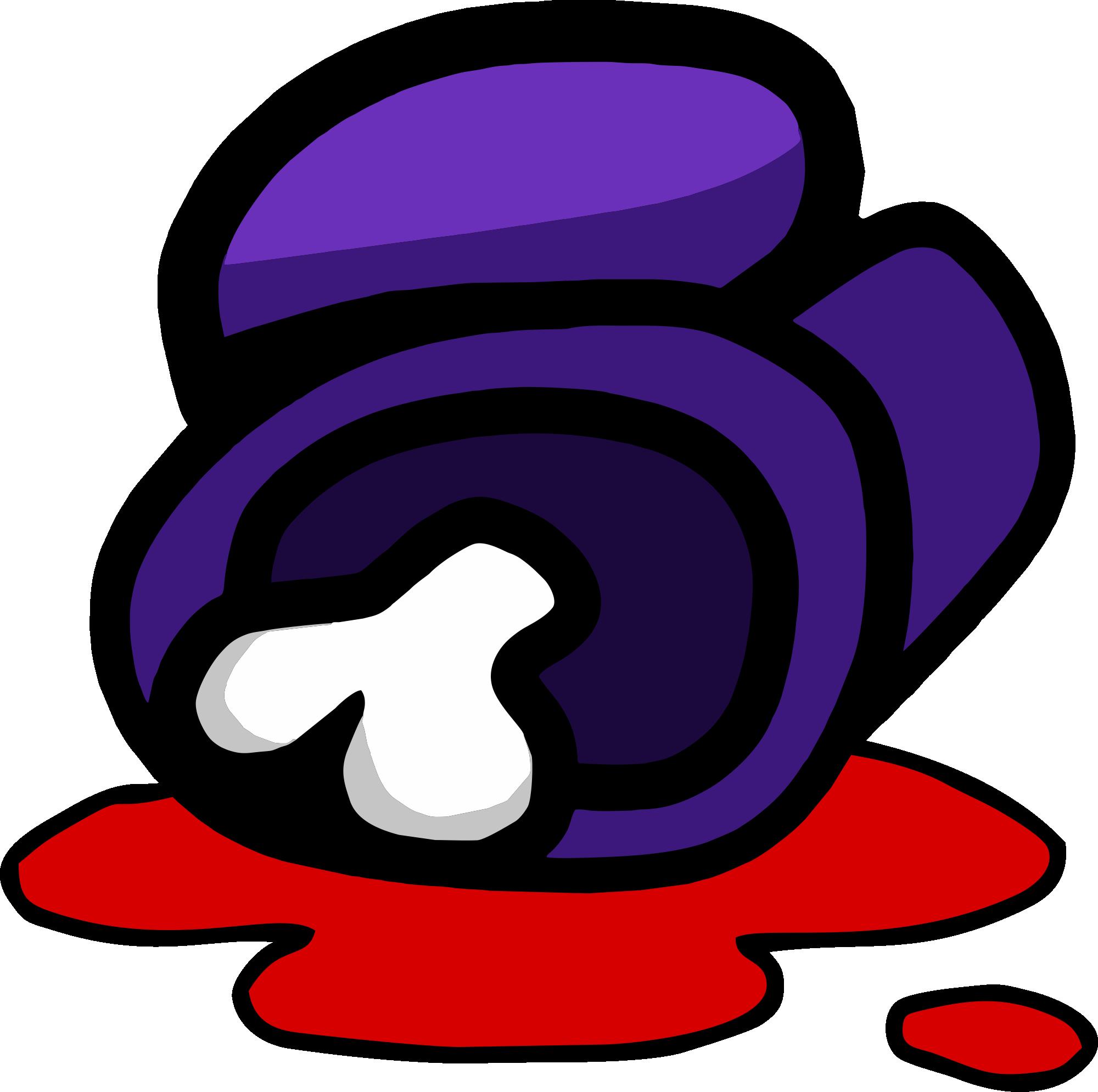 Among Us - Purple Dead Body PNG 01